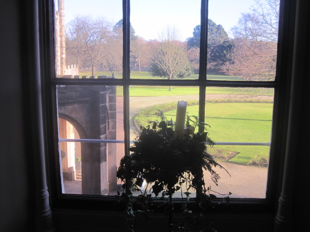 The view to the lawns