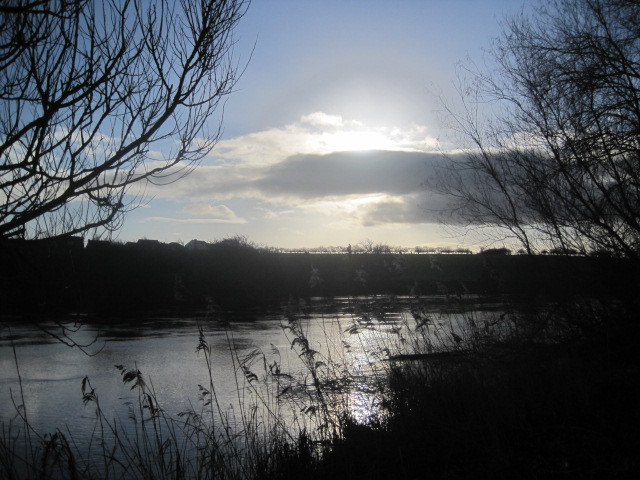 An elusive sun over the Tees