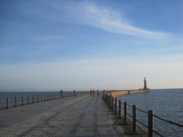 Newly restored Roker Pier