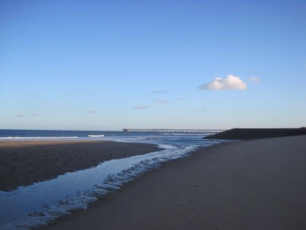Steetley pier in the distance