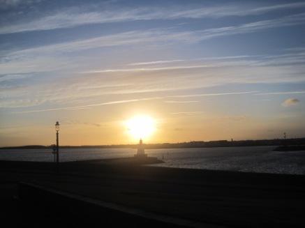 And my reward- a dazzling sunset
