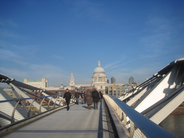 St. Paul's, across the Millenium Bridge