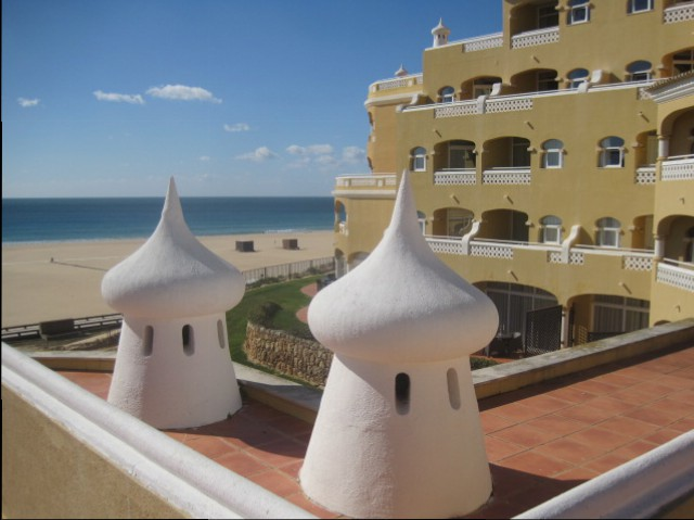 Smart hotels line the promenade