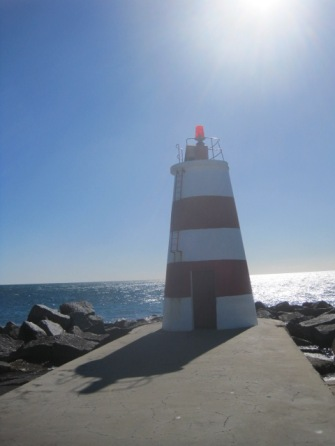 But here we are at the lighthouse