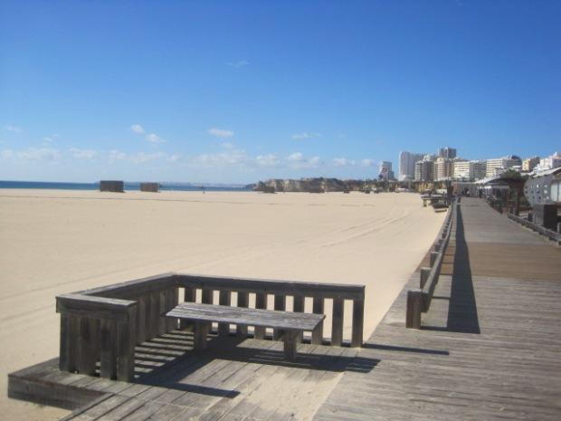 Winter in the Algarve- the deserted beach at Praia da Rocha