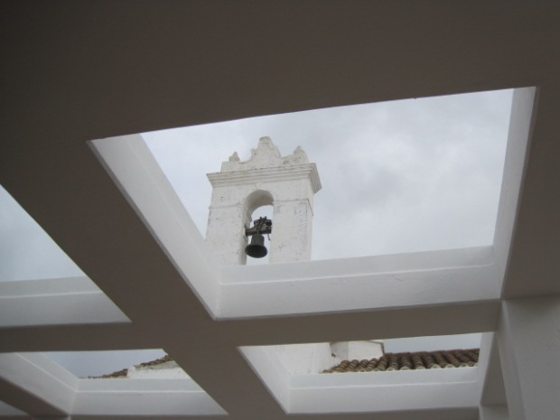Looking up to the bell tower