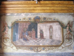 With scenes from the Passion