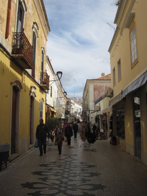 The pedestrianised streets of the centre