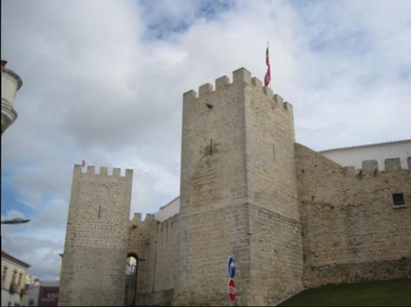 Solid castle walls