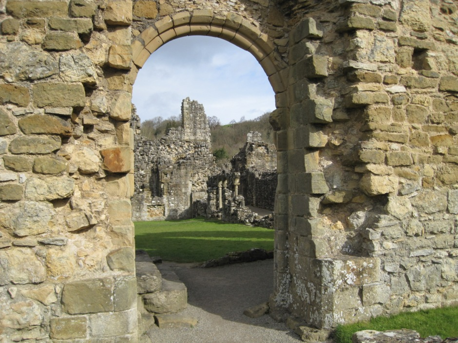 Looking through into the Infirmary Cloister