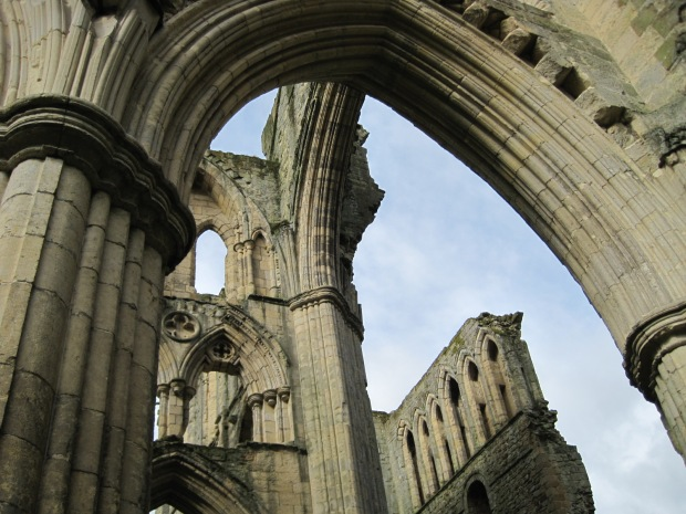 Gazing heavenwards at Rievaulx Abbey
