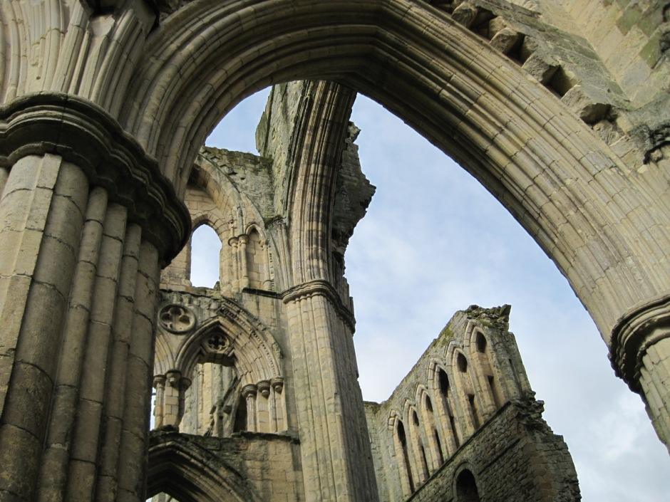 Gazing heavenwards at Rievaulx Abbey