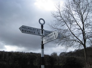 The sign points the way