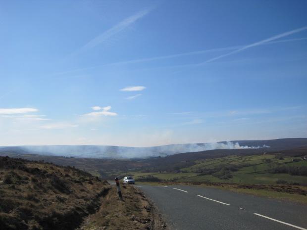 Burning the heather on Farndale