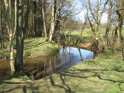 The walk follows the River Dove