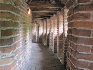 Inside the structure