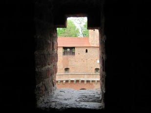 Looking in, towards the central courtyard