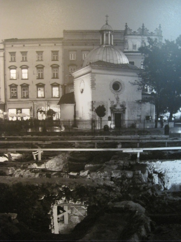 How the square looked during the excavations