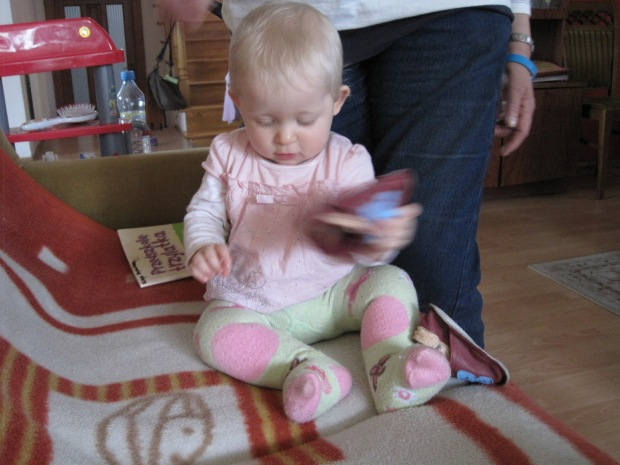 Little Nadia- with the shoes her Mum has made