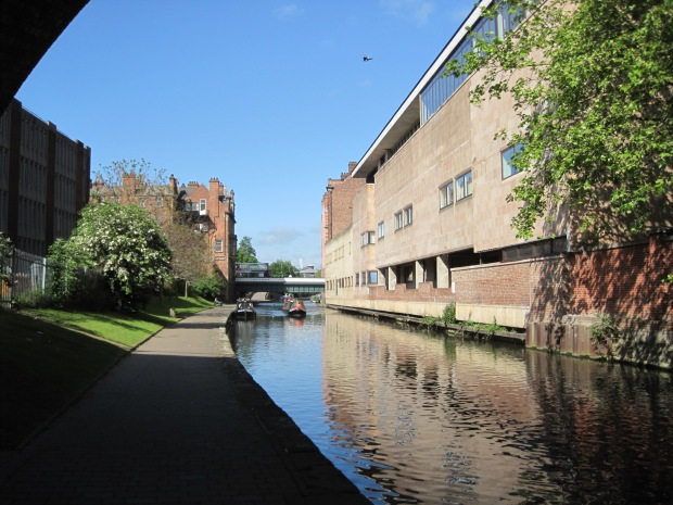 Many buildings back onto the canal