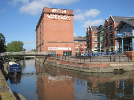 Around the canal basin
