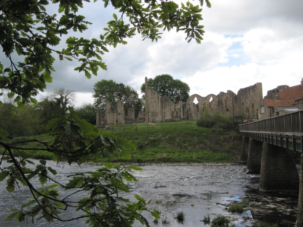 Across the bridge, you can look back at the Priory