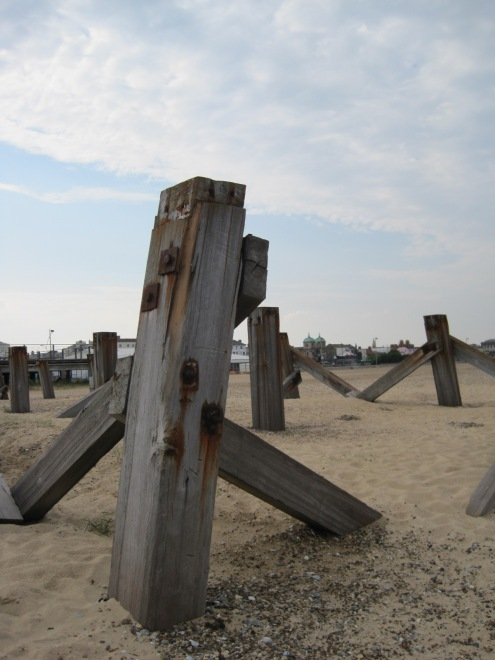 Or the old wooden pier supports