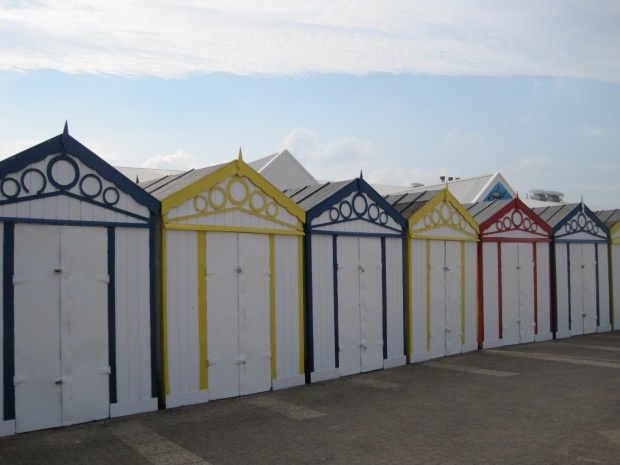 The beach huts on the front have seen a recent coat of paint