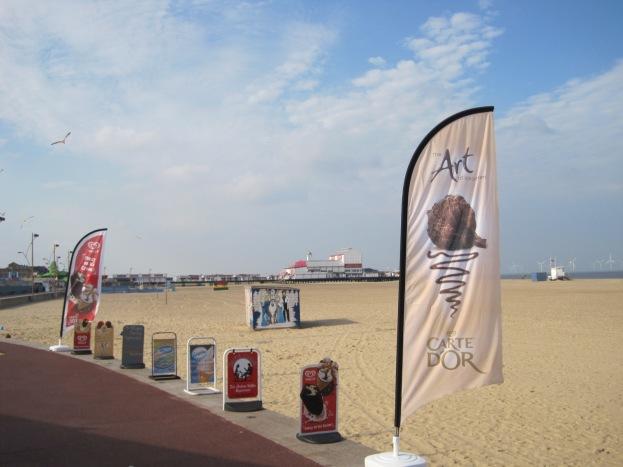 The empty June beach and Britannia Pier