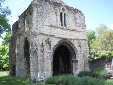The ruins of Bishop Salmons Porch