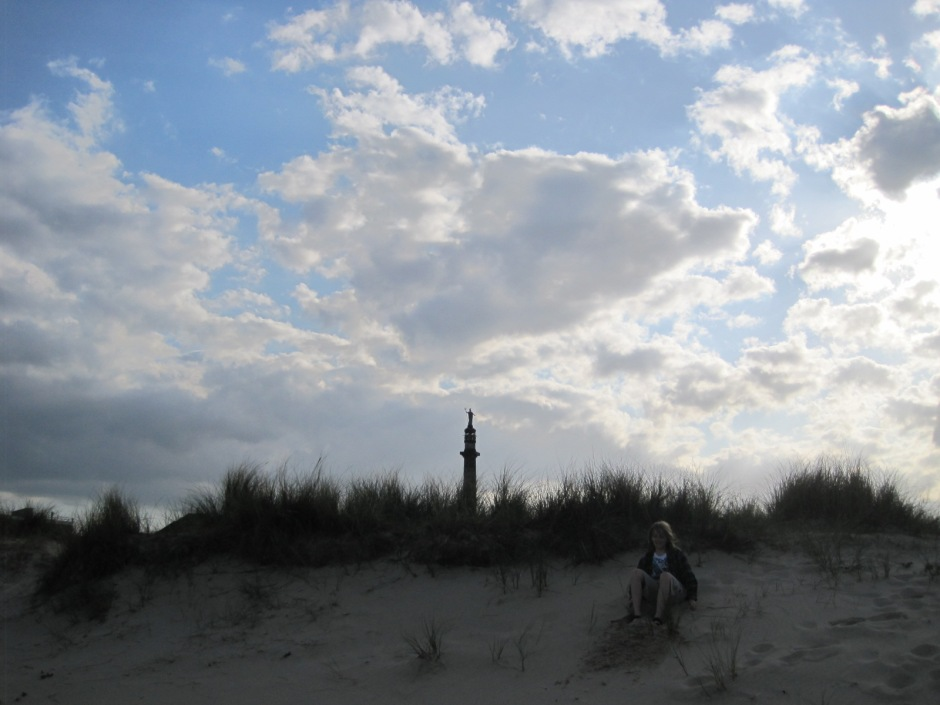 Just a hint of Nelson's Monument, behind the dunes