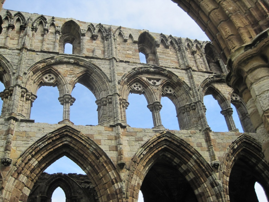 So let's finish with a look up at the abbey