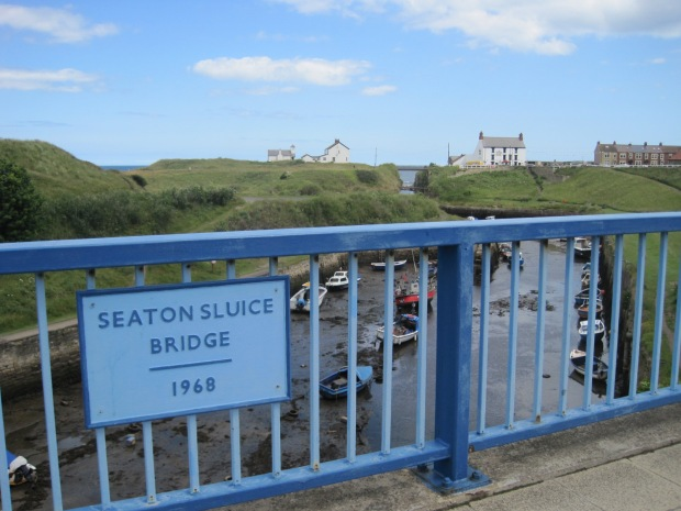 Crossing Seaton Sluice Bridge we can look back at the harbour