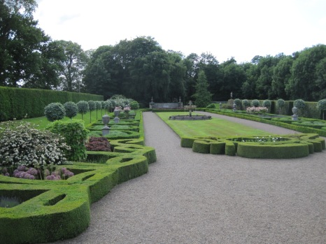 The formal French style garden