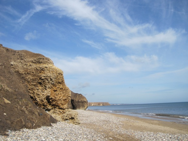 The cliff formations fascinate