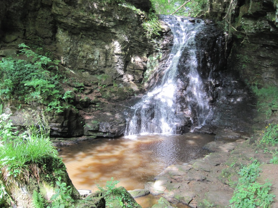 Hareshaw Linn, or waterfall