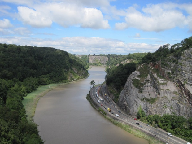 The River Avon below twists and turns into the distance
