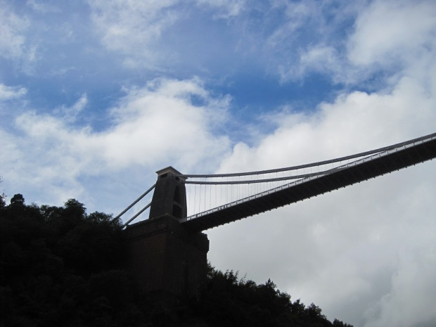 The bridge in silhouette