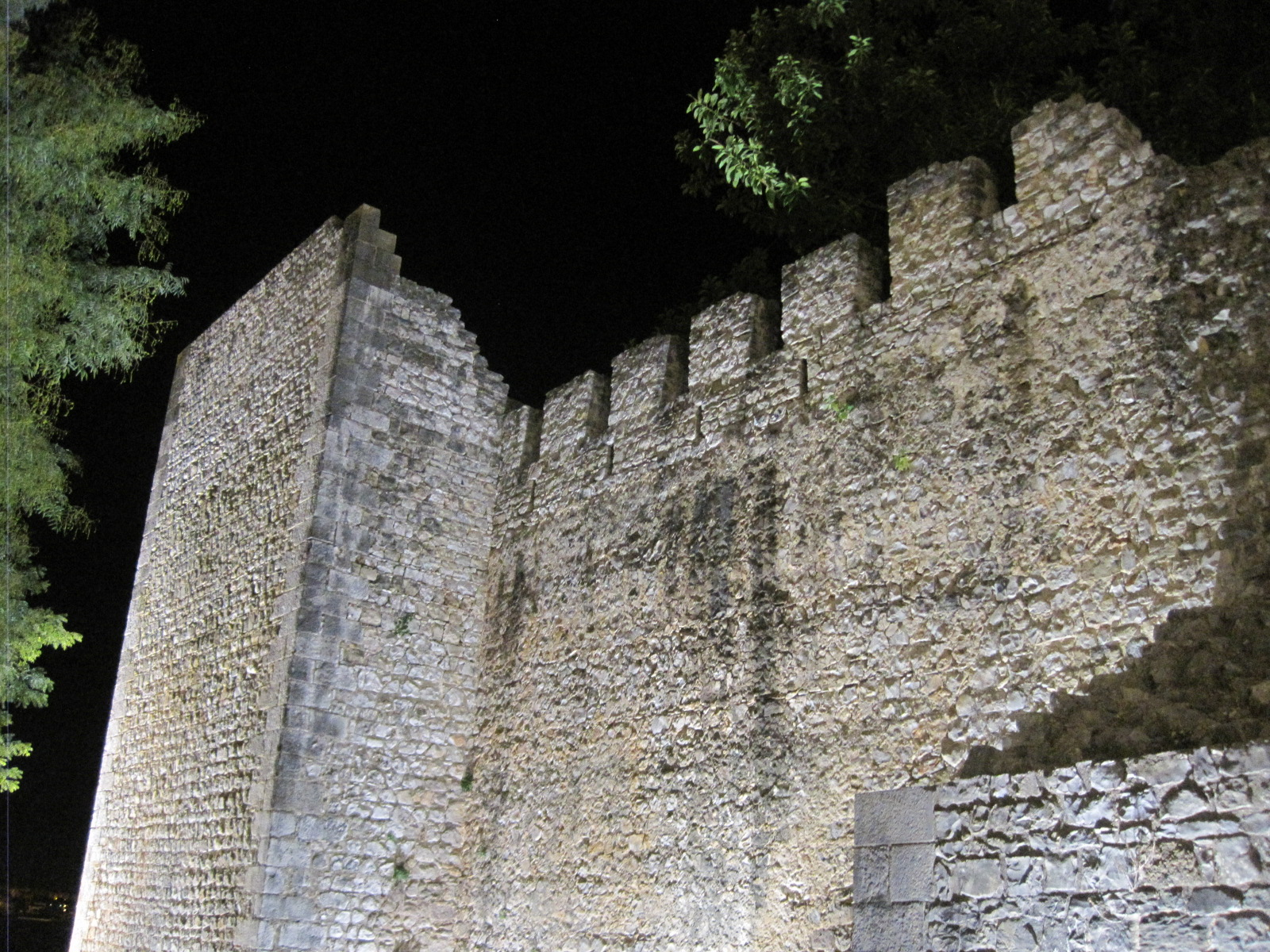 The floodlit castle walls took on a magic of their own