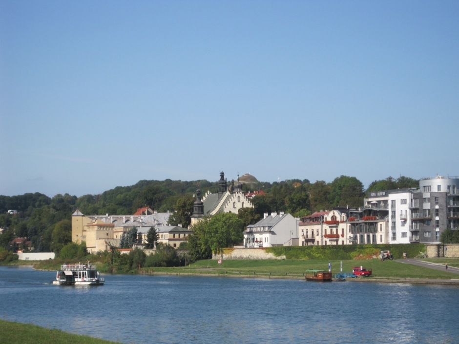 Looking across the river at St. Augustyna on the far shore