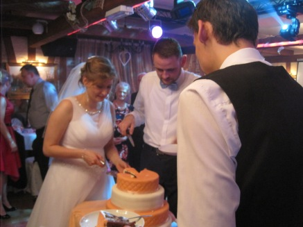 And then cutting the cake