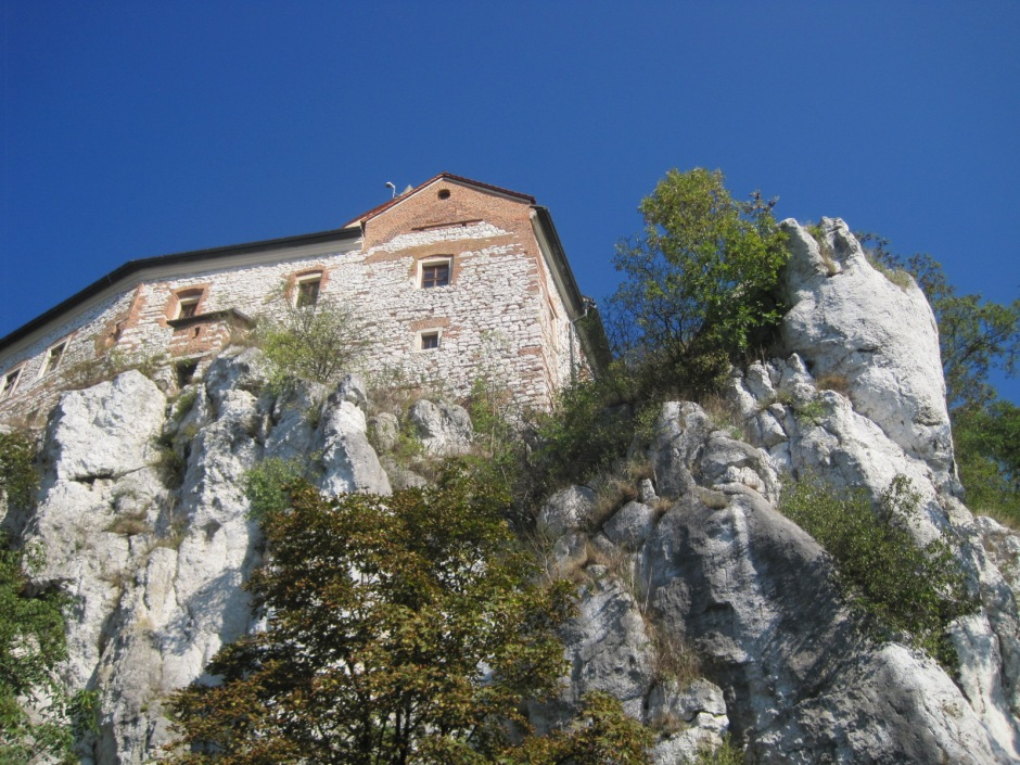 The Benedictine clifftop monastery at Tyniec