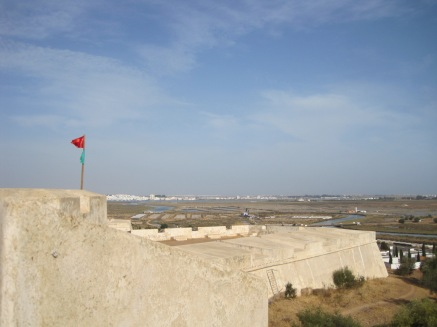 With views of the salt pans and beyond