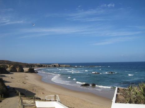 An expanse of beach
