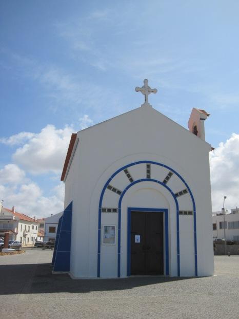A tiny chapel on a promontory