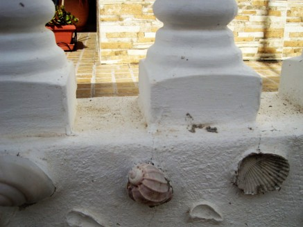The shells were set into the wall