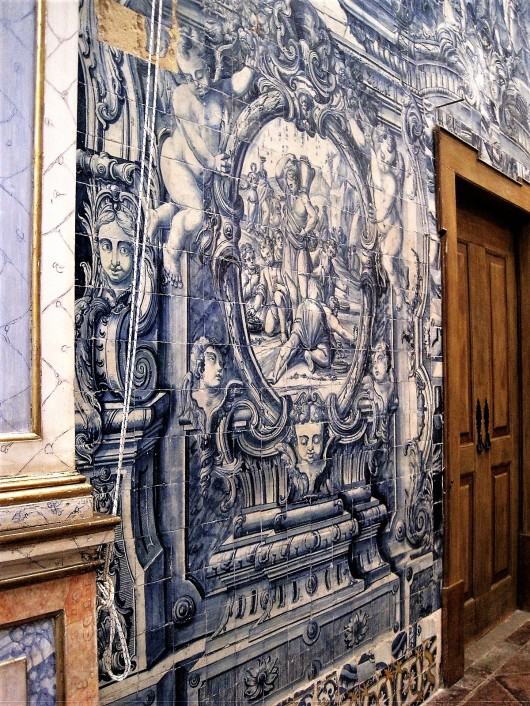 Azulejo panel in Santa Maria church