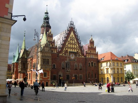 Ratusz, the Town Hall, in Wroclaw