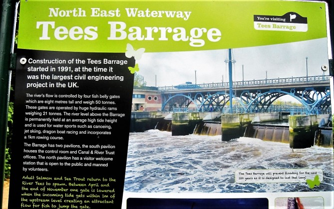 Welcome to the Tees Barrage