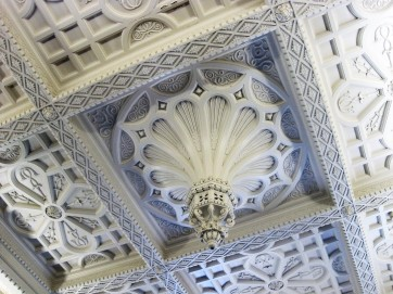 And elaborately reproduced ceiling